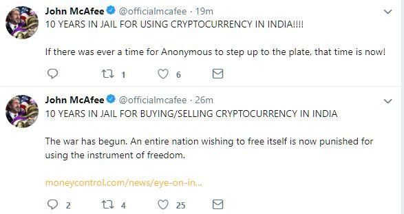 The War Has Begun': McAfee Begs Hackers to Fight India's