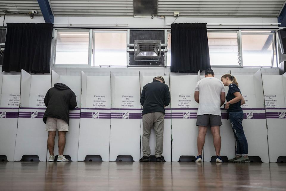 2019 federal election: Voters at the polling booths at Bronte Public School in Sydney for the Wentworth by-election in October.
