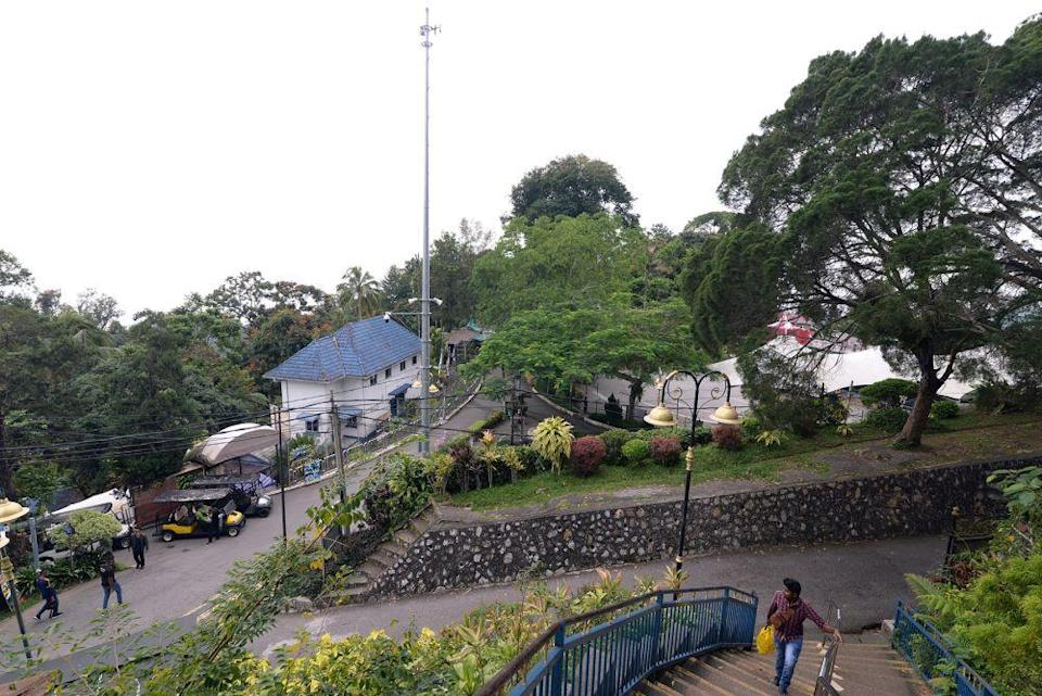 A general view of the funicular railway station at the top of Penang Hill October 2, 2020. — Picture by KE Ooi