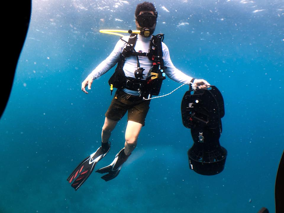 Huertas is an avid diver and has worked to educate others about environmental conservation. (Photo: Jon Huertas)