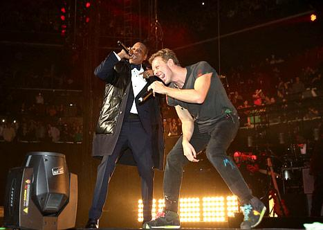 Jay-Z and Chris Martin Ring In The New Year Together