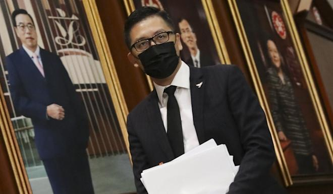Democratic Party lawmaker Lam Cheuk-ting at the Legislative Council on Wednesday. Photo: K. Y. Cheng