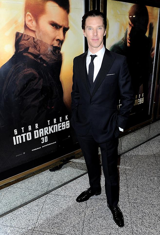 "Benedict Cumberbatch attends the ""Star Trek Into Darkness"" UK Premiere at the Empire Leicester Square on May 2, 2013 in London, England.  (Photo by Dave J Hogan/Getty Images)"