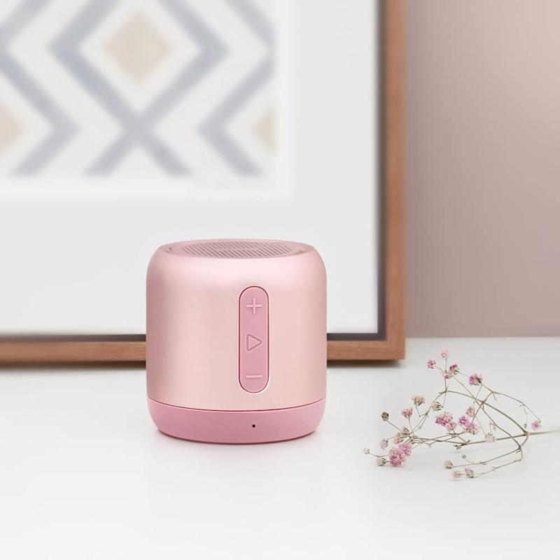 Anker SoundCore Mini Bluetooth Speaker in Pink. Image via Amazon.