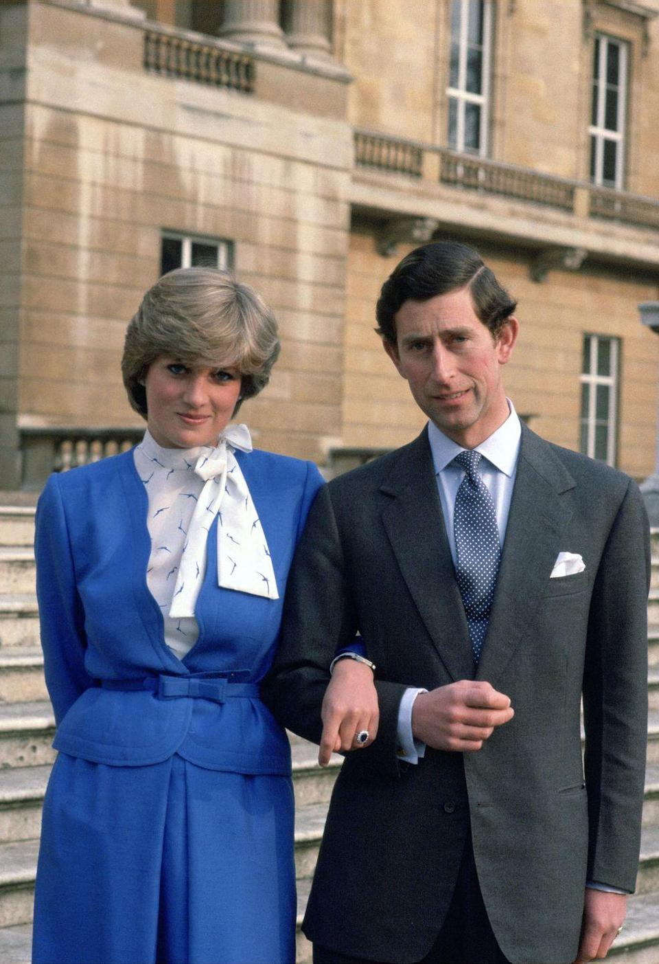 """<p>Charles and Diana only dated for six months before they became engaged. It was later <a href=""""https://www.townandcountrymag.com/society/tradition/a29873445/prince-charles-princess-diana-relationship-first-meeting/"""" rel=""""nofollow noopener"""" target=""""_blank"""" data-ylk=""""slk:revealed"""" class=""""link rapid-noclick-resp"""">revealed</a> that they met in person just 13 times before Charles proposed. </p>"""