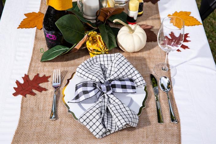 A holiday table setting