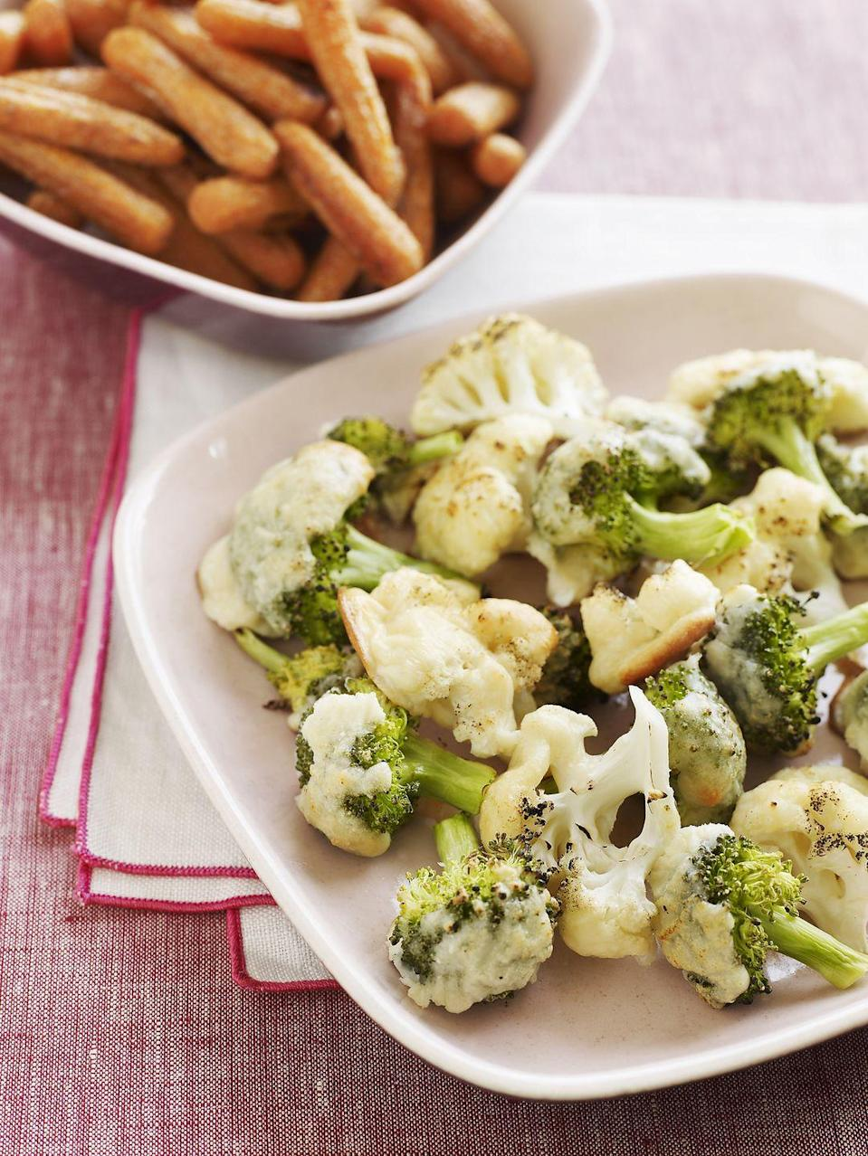 <p>Broccoli, cauliflower and Brussels sprouts are packed with antioxidants. They're also rich in choline, which works with the bacteria in your gastrointestinal tract.</p>