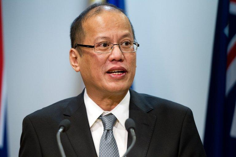 Philippine President Benigno Aquino speaks on October 23, 2012 in Wellington. Aquino has accused China of harassing two Philippine fishing boats in disputed South China Sea waters, allegedly driving out one that had sheltered from rough seas
