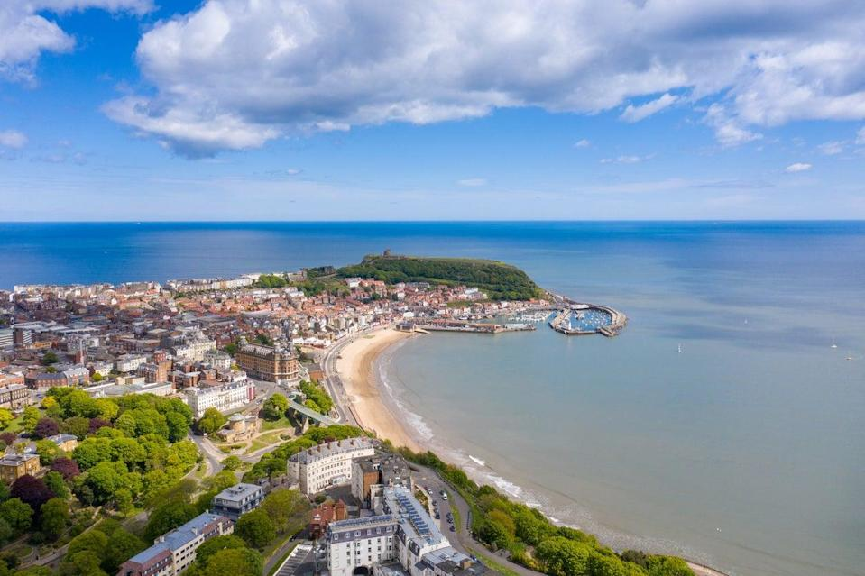 Aerial view of the town centre of Scarborough (Getty Images/iStockphoto)