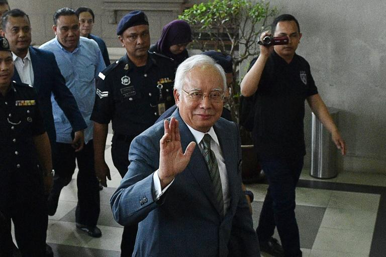 Najib was charged with three counts of money-laundering over claims he pocketed $10.3 million