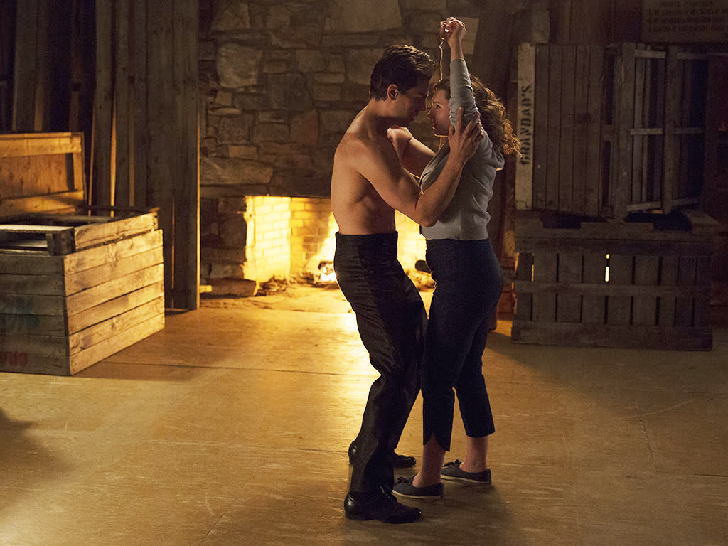 <p>Colt Prattes as Johnny Castle and Abigail Breslin as Baby Houseman in ABC's <i>Dirty Dancing</i>.<br /><br />(Photo: Eli Joshua Ade/ABC) </p>
