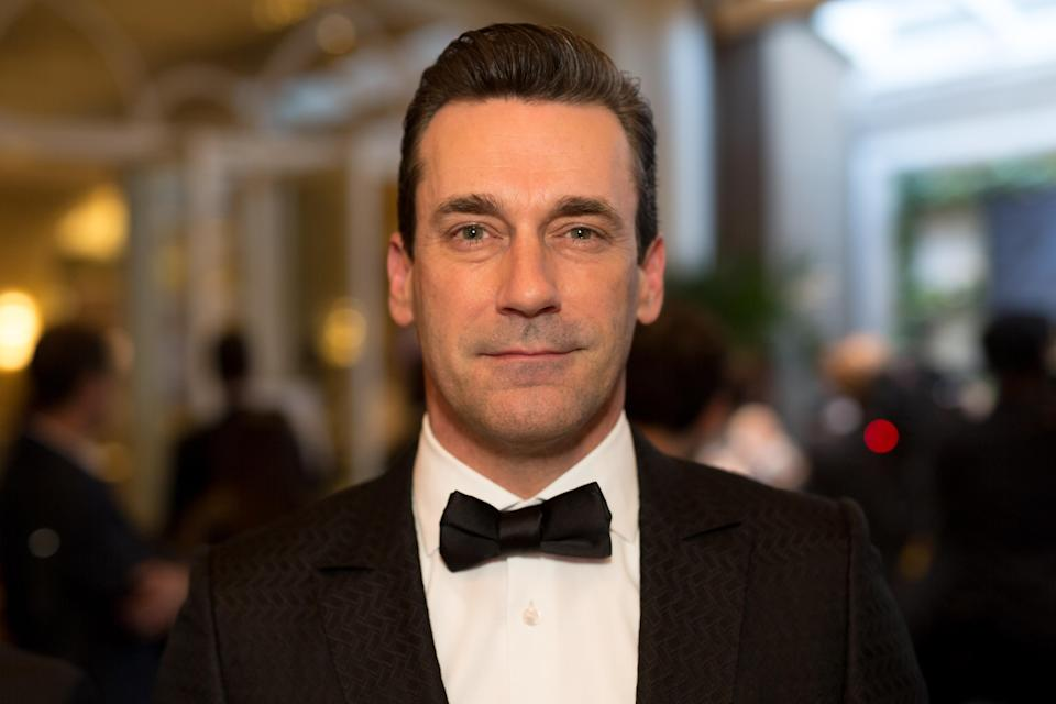 Jon Hamm attends an Academy Awards viewing party in Beverly Hills on March 4, 2018. (Photo: Greg Doherty/Getty Images)