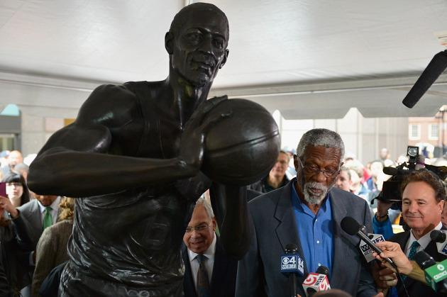 Boston honors Celtics legend Bill Russell with unveiling of statue at City Hall Plaza