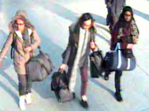 Shamima Begum left the country with friends Kadiza Sultana and Amira Abase (Metropolitan Police)