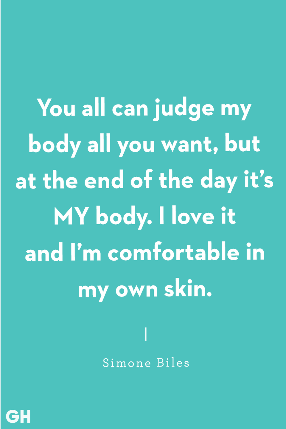 "<p>""You all can judge my body all you want, but at the end of the day it's MY body. I love it and I'm comfortable in my own skin.""</p>"