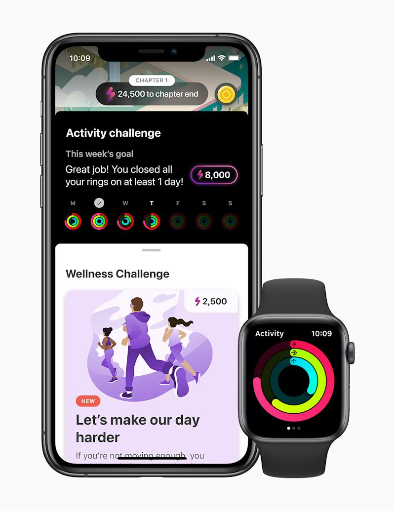 The LumiHealth app features challenges designed to help users sleep better, move more, eat well, and live more mindfully. (PHOTO: Apple)
