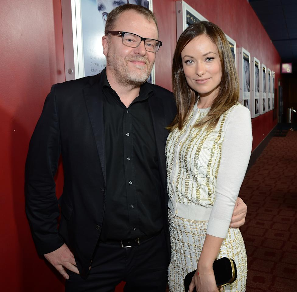 """HOLLYWOOD, CA - NOVEMBER 29:  Director Stefan Ruzowitzky (L) and actress Olivia Wilde attend the premiere of Magnolia Pictures' """"Deadfall"""" at the at the ArcLight Cinemas on November 29, 2012 in Hollywood, California.  (Photo by Michael Buckner/Getty Images)"""