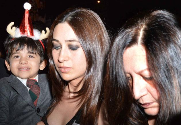 Karisma along with her mother and son