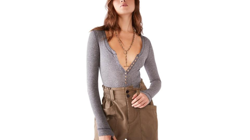 Free People Dylan Thermal Long Sleeve Bodysuit - $35 (originally $58)