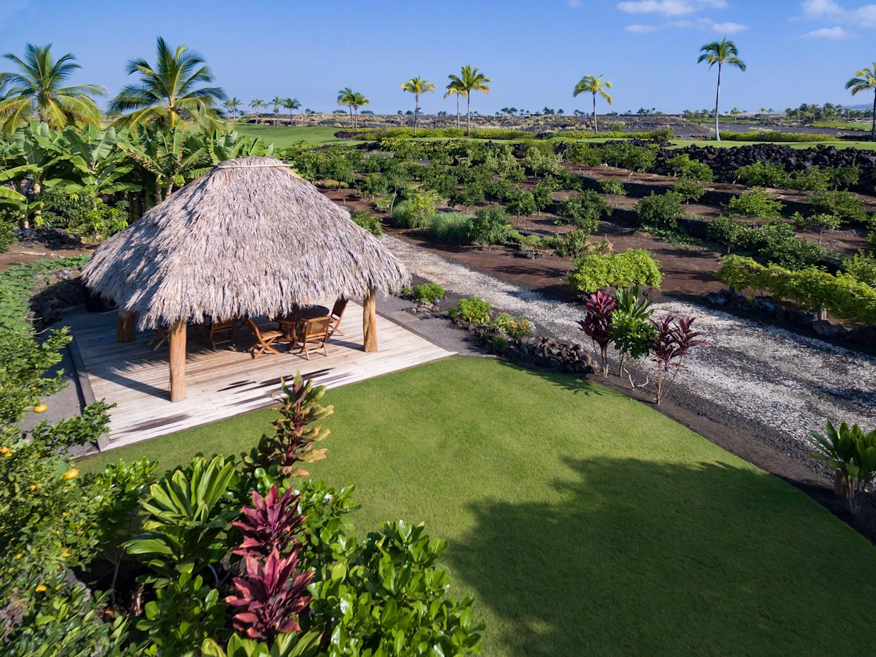 The private garden for residents at Kohanaiki in Hawaii.