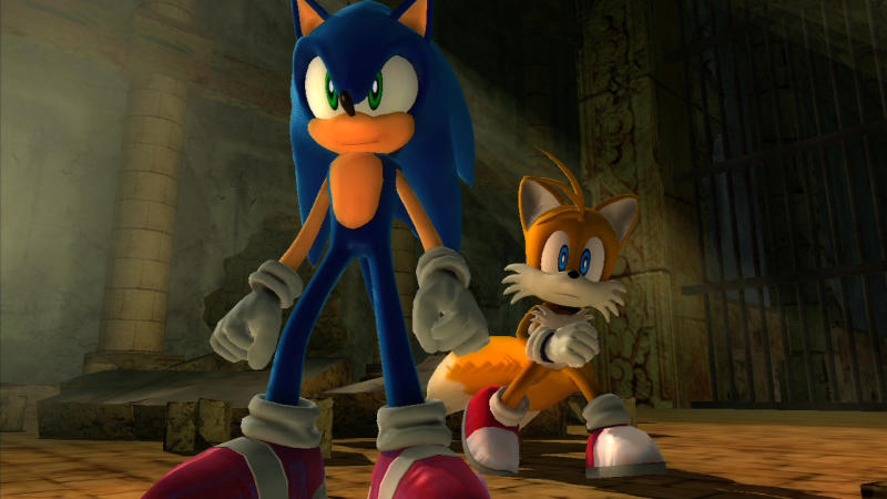 "FILE - This undated publicity image released by courtesy of game publisher Sega, shows Sonic, left, and sidekick, Tails, in the 2006 video game ""Sonic the Hedgehog,"" for the Xbox 360 and PlayStation 3. Sega says it will exclusively release the next three games starring the iconic blue critter on Nintendo platforms. (AP Photo/Sega)"