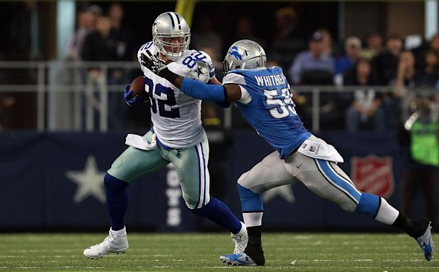 Jason Witten walked away from the Cowboys as the franchise's all-time leader in receiving yards and receptions. (Getty Images)