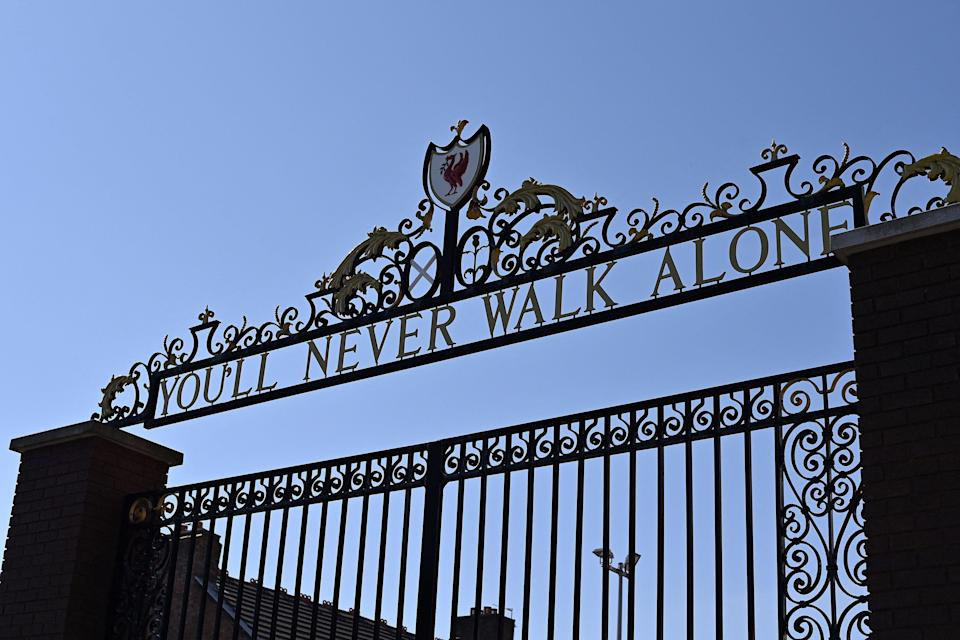 The Shankly Gates at Anfield (AFP via Getty Images)