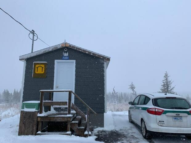The emergency shelter on North Mountain as seen in December 2020. (Brittany Wentzell/CBC - image credit)