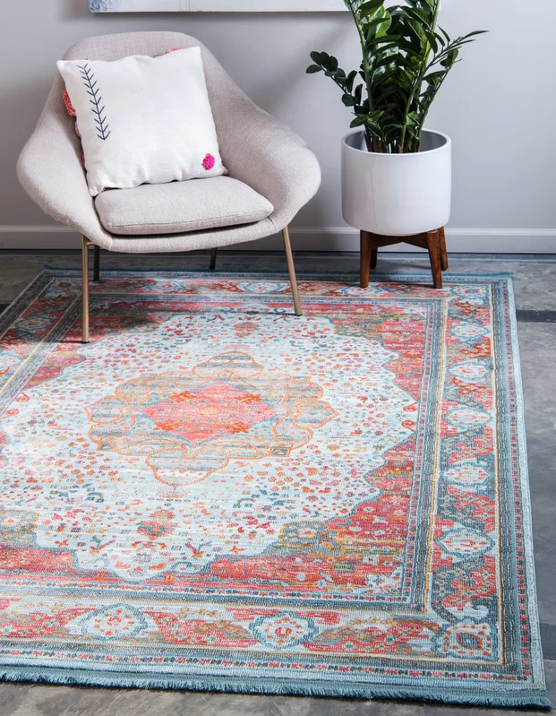 "<p>Effortlessly pull the room together with a rug that looks like a killer flea market find.</p><br><br><strong>Joss & Main</strong> Lonerock European Orange/Pink Area Rug, $158.99, available at <a href=""https://www.jossandmain.com/rugs/pdp/lonerock-european-orangepink-area-rug-bgrs2208.html"" rel=""nofollow noopener"" target=""_blank"" data-ylk=""slk:Joss & Main"" class=""link rapid-noclick-resp"">Joss & Main</a>"