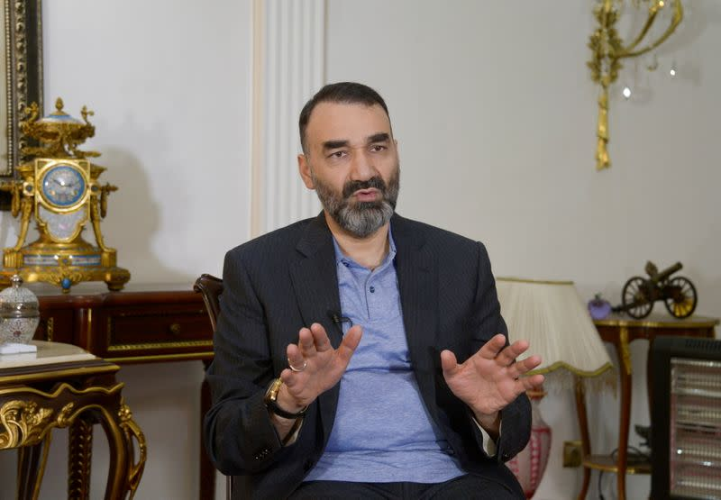 FILE PHOTO: Atta Mohammad Noor, Governor of the Balkh province, speaks during an interview in Mazar-i-Sharif