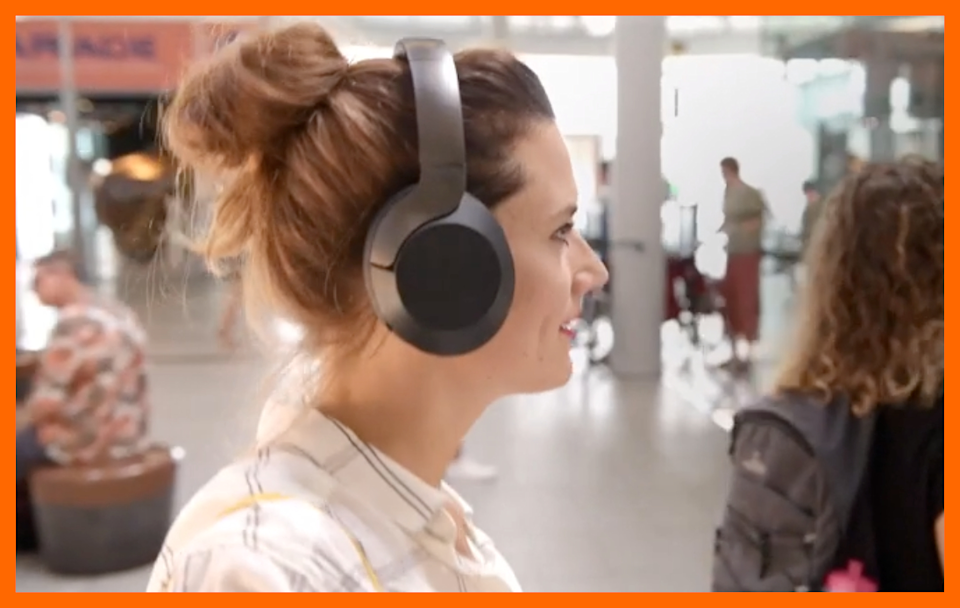 Philips Active Noise-Canceling Over-Ear Wireless Headphones: comfy even on your most hair-raising days.  (Photo: Amazon)