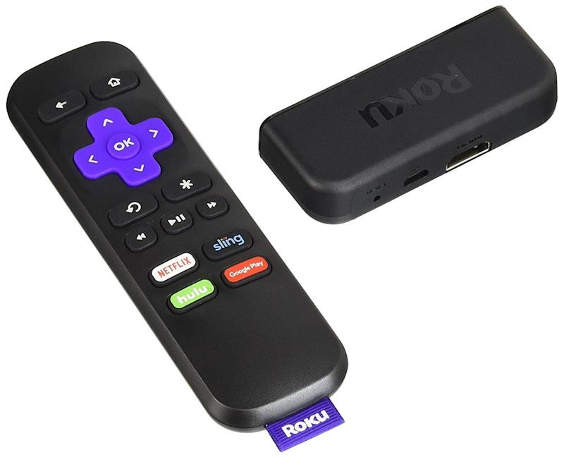 "Stream all of your favorites, like Netflix, Amazon Prime and HBO. <br /><strong>Price: <a href=""https://www.amazon.com/Roku-Express-HD-Streaming-Player/dp/B01LXJA5JD/"" target=""_blank"">$30</a></strong>"