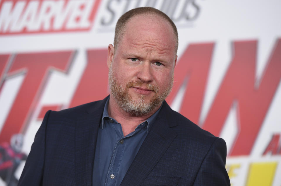 """Joss Whedon arrives at the Los Angeles premiere of """"Ant-Man and the Wasp"""" at El Capitan Theatre on Monday, June 25, 2018. (Photo by Jordan Strauss/Invision/AP)"""
