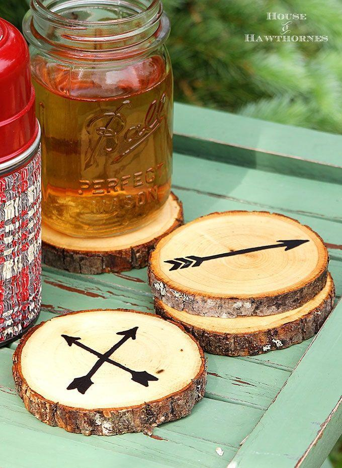 """<p>The perfect companion to a beer on a hot summer's day, these DIY coasters will get his summer started right.</p><p><strong>Get the tutorial at <a href=""""https://www.houseofhawthornes.com/arrow-wood-slice-coasters/"""" rel=""""nofollow noopener"""" target=""""_blank"""" data-ylk=""""slk:House of Hawthornes"""" class=""""link rapid-noclick-resp"""">House of Hawthornes</a>.</strong></p>"""