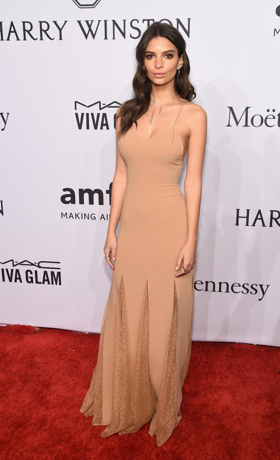 <p>The actress showed off her model frame in a figure-hugging Michael Kors gown. <i>[Photo: Getty]</i><br></p>