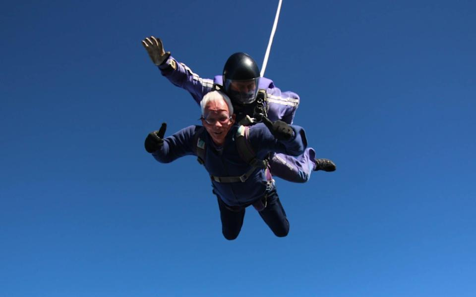 Norman Norringon didn't just get fitter; he even tried skydiving