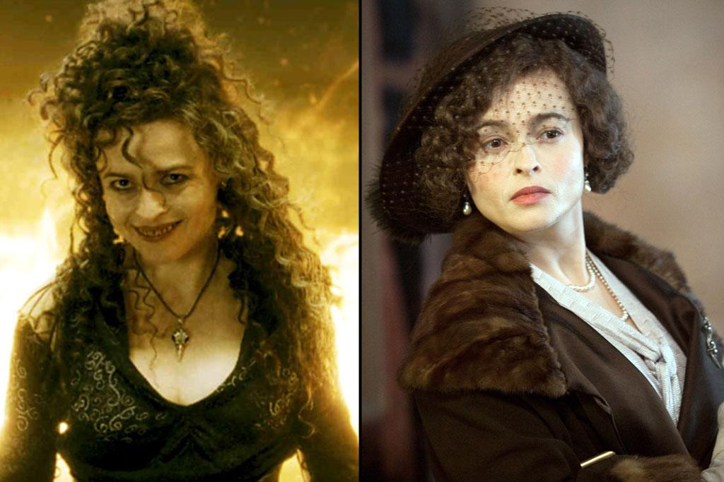 "Actress: <a href=""http://movies.yahoo.com/movie/contributor/1800018966"">Helena Bonham Carter</a>  ""Harry Potter"" Role: Bellatrix Lestrange    Before she was known for playing the most wicked member of the Death Eaters, Helena Bonham Carter was known as a ""corset queen,"" starring in one English period drama after another, from ""<a href=""http://movies.yahoo.com/movie/1800112959/info"">A Room With a View</a>"" to ""<a href=""http://movies.yahoo.com/movie/1800176967/info"">Where Angels Fear to Tread</a>,"" to ""<a href=""http://movies.yahoo.com/movie/1800026249/info""> The Wings of the Dove</a>."" For that last movie, Bonham Carter garnered her first Oscar nomination. She received her second one for ""<a href=""http://movies.yahoo.com/movie/1810124453/info"">The King's Speech</a>."" Less commonly known is that Bonham Carter also played Don Johnson's love interest during the '86-'87 season of ""Miami Vice."""