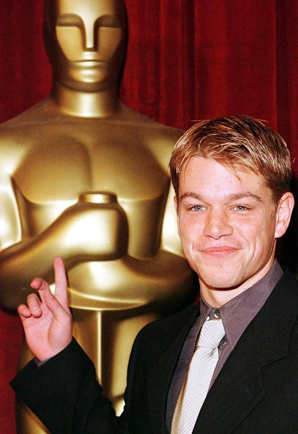 <p>Pre-<em>Bourne </em>trilogy, Matt Damon entered Hollywood as a heavy-hitting newcomer when he wrote and starred in <em>Good Will Hunting</em>. The movie was a smash hit, and the following year Damon was a double nominee at the Academy Awards as a result.</p>