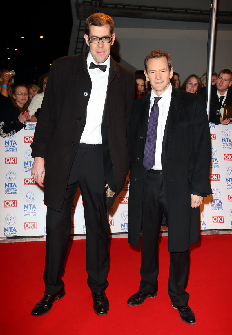LONDON, ENGLAND - JANUARY 23: Richard Osman and Alexander Armstrong attend the National Television Awards at 02 Arena on January 23, 2013 in London, England. (Photo by Mike Marsland/WireImage)