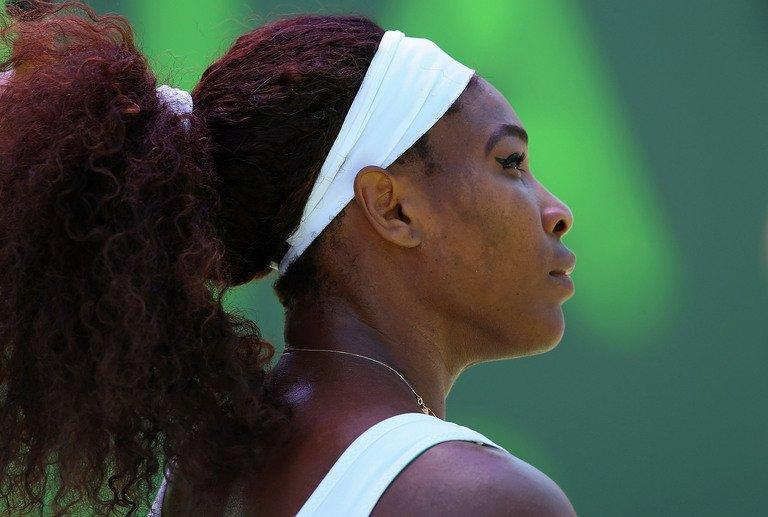 World No. 1 Serena Williams plays against Maria Sharapova in the Sony Open on March 30, 2013, in Key Biscayne, Florida