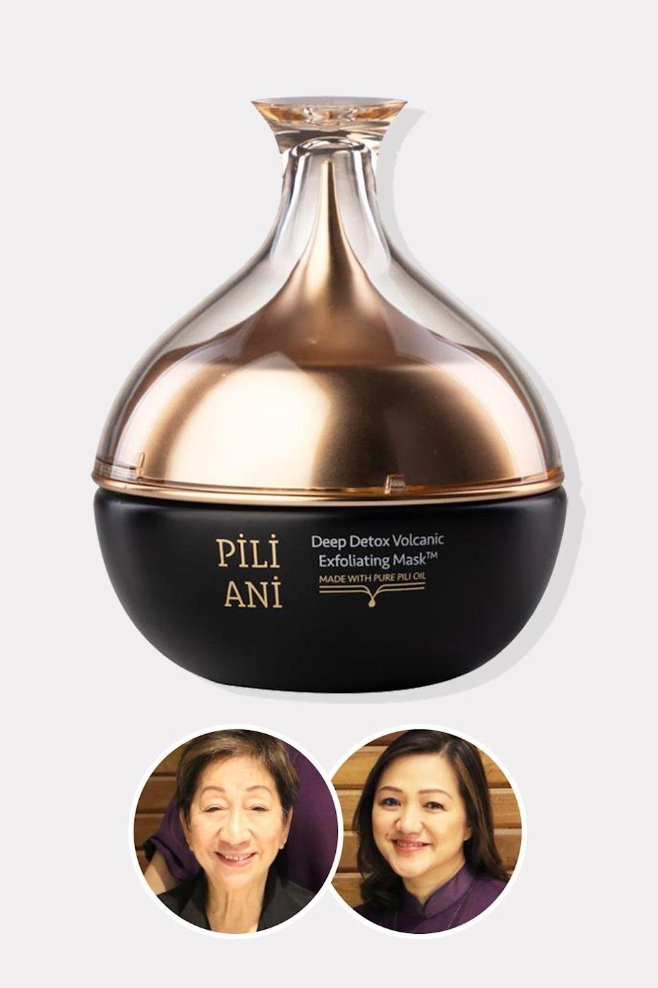 """<p><strong>Pili Ani</strong></p><p>hsn.com</p><p><strong>$42.00</strong></p><p><a href=""""https://go.redirectingat.com?id=74968X1596630&url=https%3A%2F%2Fwww.hsn.com%2Fproducts%2Fpili-ani-deep-detox-volcanic-exfoliating-mask%2F20018367&sref=https%3A%2F%2Fwww.oprahdaily.com%2Fbeauty%2Fskin-makeup%2Fg36454382%2Fasian-beauty-brands%2F"""" rel=""""nofollow noopener"""" target=""""_blank"""" data-ylk=""""slk:Shop Now"""" class=""""link rapid-noclick-resp"""">Shop Now</a></p><p>Rosalina Tan, dubbed the Mother of Organic Farming in the Philippines, became fascinated by the resilience of the Pili Tree from the Bicol region of the country. Known as the """"stress-loving tree"""" by Filipinos due to its abilities to withstand the area's numerous storms, Tan and her daughter Mary Jane Tan-Ong decided to harness the anti-aging powers of the oil from its seeds by launching their brand Pili Ani. The latest product, this detoxifying mask, pairs it with natural volcanic ash to deeply purify the pores.</p>"""