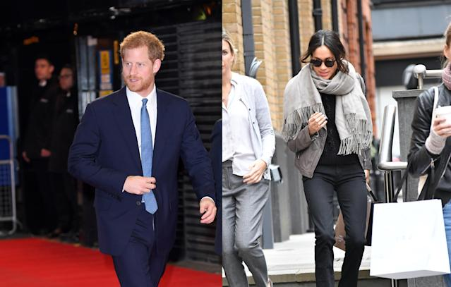 <p>With removal vans being spotted outside of Markle's Toronto home and her appearance doing a bit of shopping on London's King's Road, an engagement announcement seemed imminent. (Photo: Getty/The Mega Agency) </p>