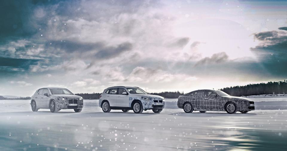 BMW will unveil the i4 concept plus a trio of hybrids. Credit: BMW