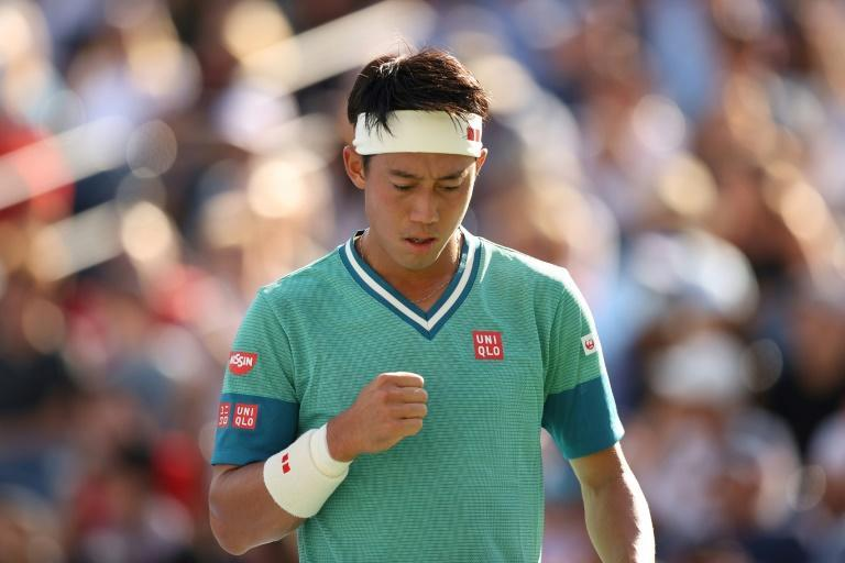 Japan's Kei Nishikori has lost 16 consecutive matches to top-ranked Novak Djokovic but faces him again on Saturday to decide a berth in the fourth round of the US Open (AFP/ELSA)