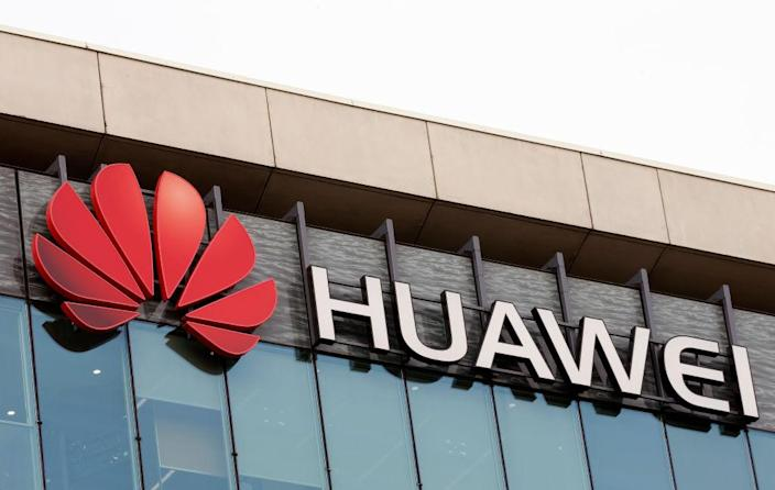 PARIS, FRANCE - JANUARY 31: The logo of China's Huawei Information and Communication Technology Group is visible on the facade of its headquarters on January 31, 2019 in Paris, France. The French government has decided to limit the deployment of telecom equipment belonging to the Chinese group, Huawei. Westerners suspect Huawei of using it's position in the global market for espionage purposes. In the USA, Huawei is targeted by more than 20 counts. The tense relations between Huawei and the United States finally led to complaint being filed against the Chinese manufacturer, accusing it of technology theft and sanction violations. Huawei Technologies Co. Ltd. is a company founded in 1987, headquartered in Shenzhen, China, which provides solutions in the field of information and communication technologies. (Photo by Chesnot/Getty Images)