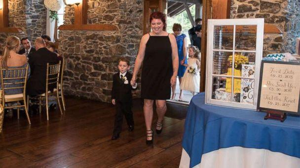 PHOTO: Casey Bender, 25, of Chambersburg, Pennsylvania, seen with her son Landon, 4, on September 23, the day of Landon's father's wedding. (The Wise Image)