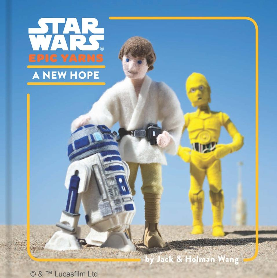 <p>The <i>Star Wars Epic Yarns</i> board books translate the original <i>Star Wars </i>trilogy into baby-friendly format, featuring cuddly felt figures handmade by brothers Jack and Holman Wang. </p>