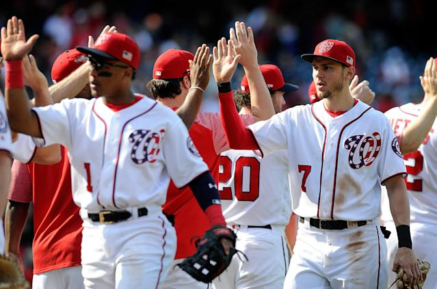 The Nationals are going to the postseason once again. (Photo by Greg Fiume/Getty Images)