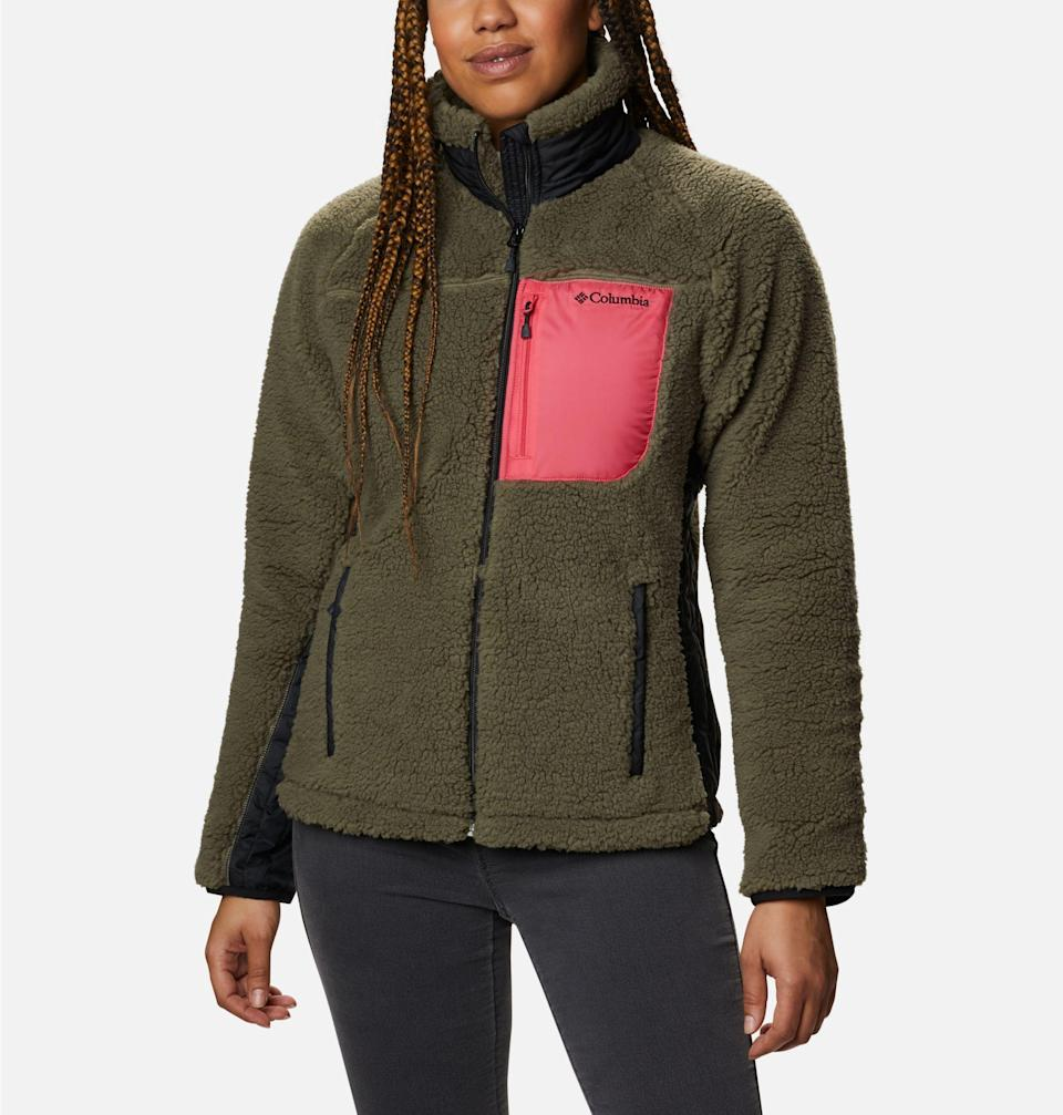 """<br><br><strong>Columbia</strong> Archer Ridge™ II Full Zip Jacket, $, available at <a href=""""https://go.skimresources.com/?id=30283X879131&url=https%3A%2F%2Fwww.columbia.com%2Fp%2Fwomens-archer-ridge-ii-full-zip-jacket-1922652.html%3Fdwvar_1922652_color%3D397"""" rel=""""nofollow noopener"""" target=""""_blank"""" data-ylk=""""slk:Columbia"""" class=""""link rapid-noclick-resp"""">Columbia</a>"""