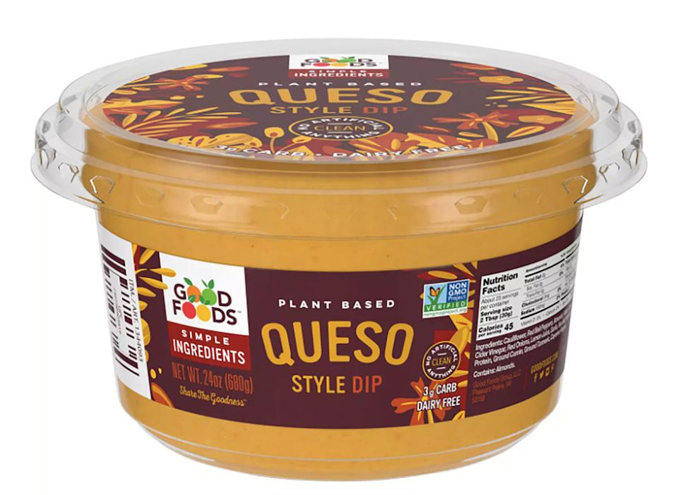 good foods plant-based queso-style dip